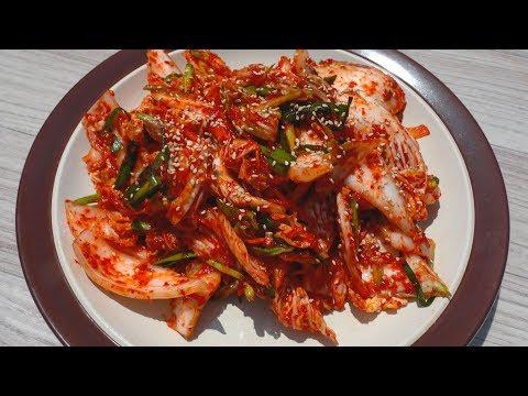 Quick, fresh kimchi (Baechu-Geotjeori: 배추겉절이 김치)