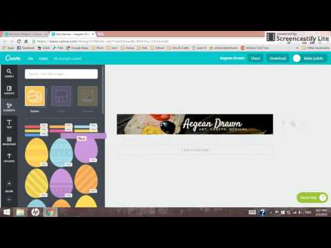 How to Create an Etsy Banner in Canva
