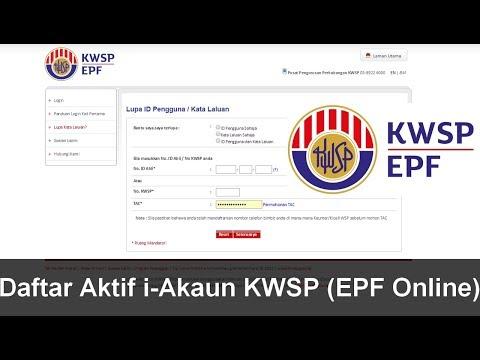 Cara Daftar Aktif i Akaun KWSP EPF Online