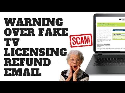 Warning Over Fake TV Licensing Refund Email