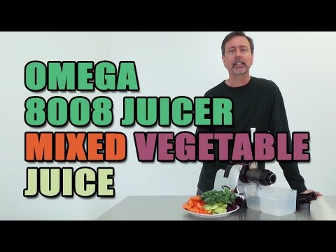 Omega 8008 Juicer Mixed Vegetable Juice