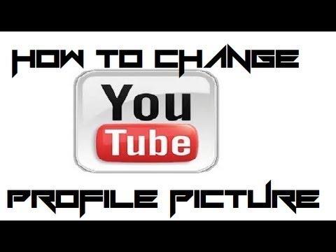 How to change YouTube profile image