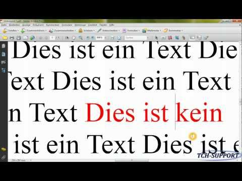 Adobe®  Acrobat® : Text ändern/editieren