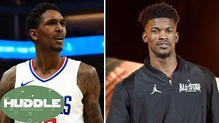 Lou Williams PISSED at Jimmy Butler for Sitting Out the Entire All Star Game  The Huddle