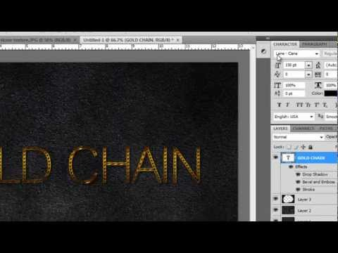 Create Gold Chain Text Effect (Sinhala Tutorial)