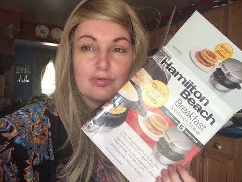 Hamilton Beach Breakfast Sandwich Maker Review & Demonstration