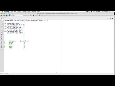 55. If-elif-else statement example program - Learn Python