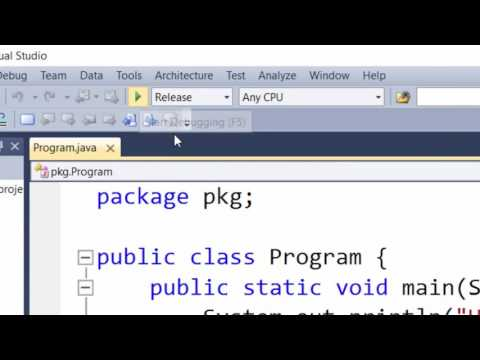 How to: Java in Visual Studio 2010 +
