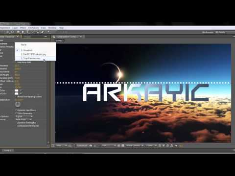 How to make an Adobe After Effects audio visualizer