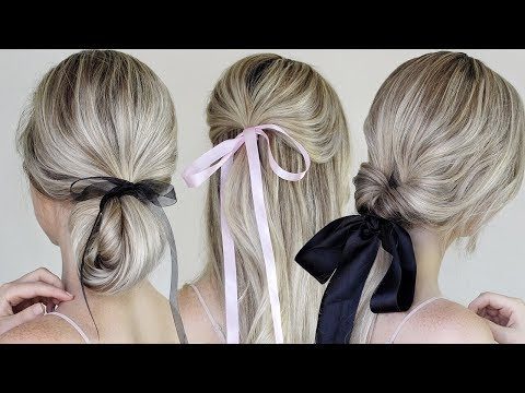 Simple & Easy Hairstyles Incorporating Bows & Ribbon
