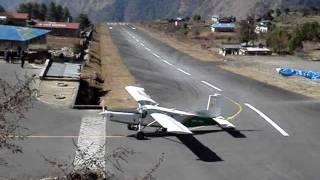 Plane Landing At Lukla, Nepal.mpg