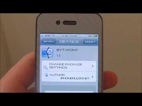 iPhone 4: How to Change System Fonts NEW!!
