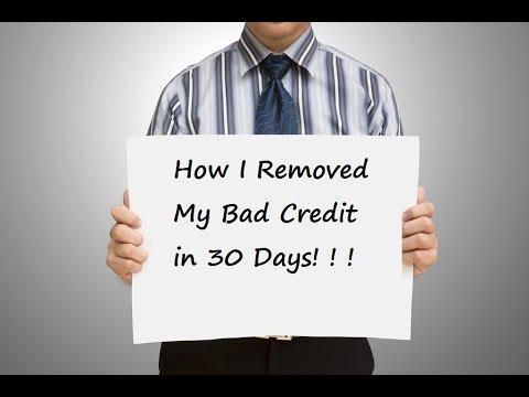 How I Removed My Bad Credit in 30 days