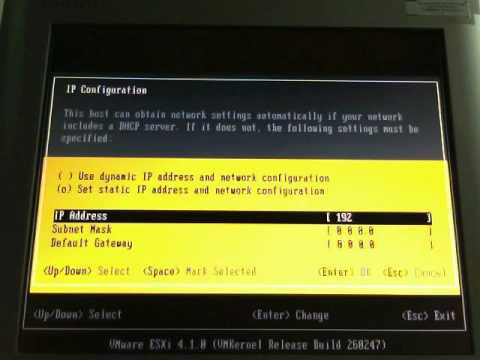 VMWare ESXi 4.1 - How to change root password and configure Network Settings