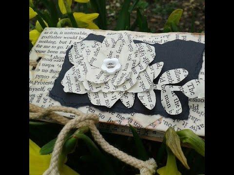 Mini Vintage Scrapbook - Upcyle Craft