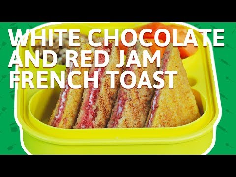 Jam French Toast with Chocolate - How To Make French Toast - Chocolate Recipe For Kids Tiffin Box