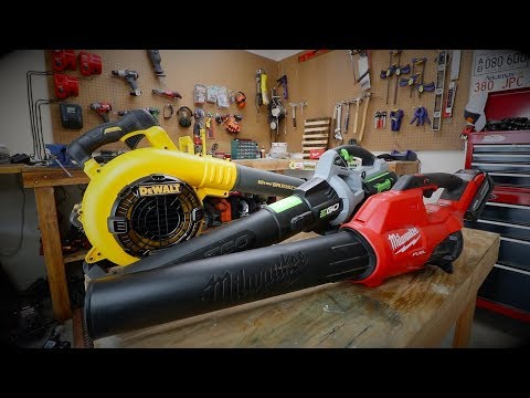 Battery Operated Blowers Battle Of The Brands Milwaukee Dewalt Ego Power