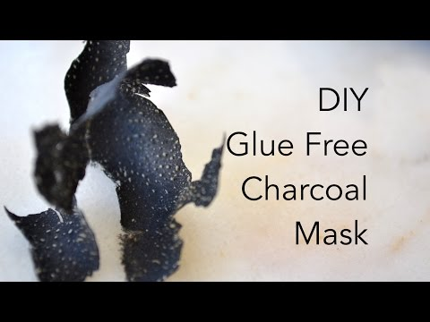 DIY Charcoal Mask, No Glue Peel-Off Face Mask, Glue Free