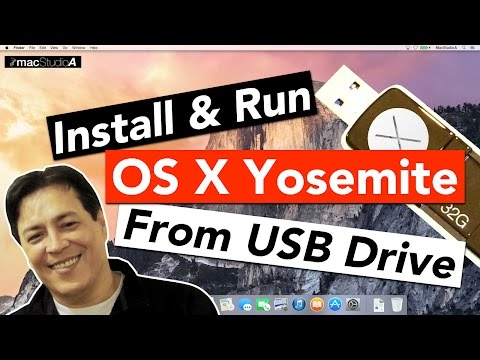 Install and Run Mac OS X Yosemite From A USB Flash Drive