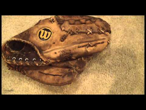 Vintage Wilson A2000 Before and After Glove Relace - Baseball Glove Repair