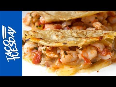 Taco Tuesday: Cheesy Shrimp Tacos