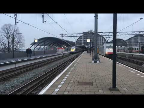 Eurostar departing from Amsterdam Central to London testrun 25-01-2018