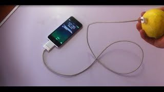 How To Charge iPhone For FREE! | Life Hack | With A Lemon!