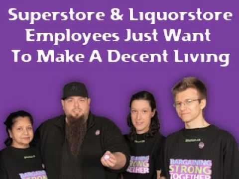 Superstore and Liquorstore Employees Just Want To Make A Decent Living