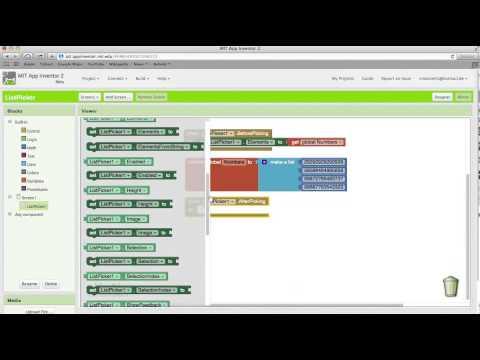 App Inventor 2 Tutorial List Picker HD