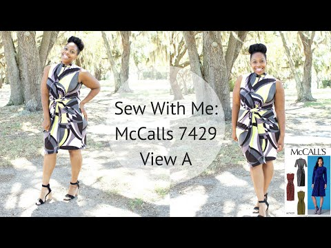 Sew With Me: McCalls 7429 Twisted Knot Dress