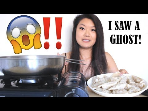 【Mukbang】DUMPLINGS | I saw the ghost in the Conjuring 2.. 😱‼