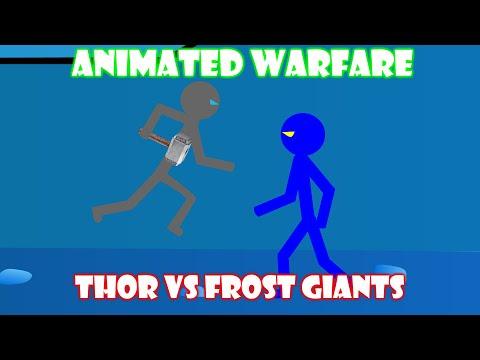 Animated Stickfigure Warfare - Thor Vs The Frost Giants