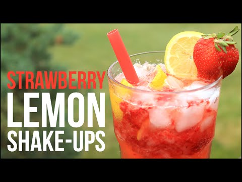 Strawberry Lemon Shake-Ups!! Homemade Strawberry Lemonade Recipe