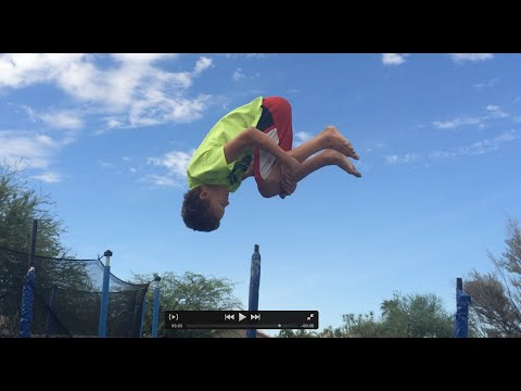 How To Do A Frontflip On A Trampoline For Beginners !