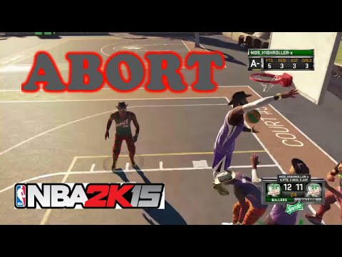 NBA 2K15 MYPARK SUNSET BEACH TAKE OVER 3V3 ABORT!