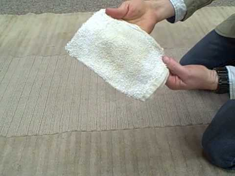 Durango Rug Expert shows how to Spot Clean Wool Rugs