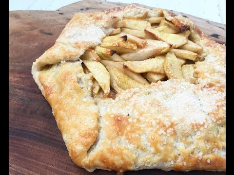 APPLE PEAR CROSTATA with SPICED WHIPPED CREAM