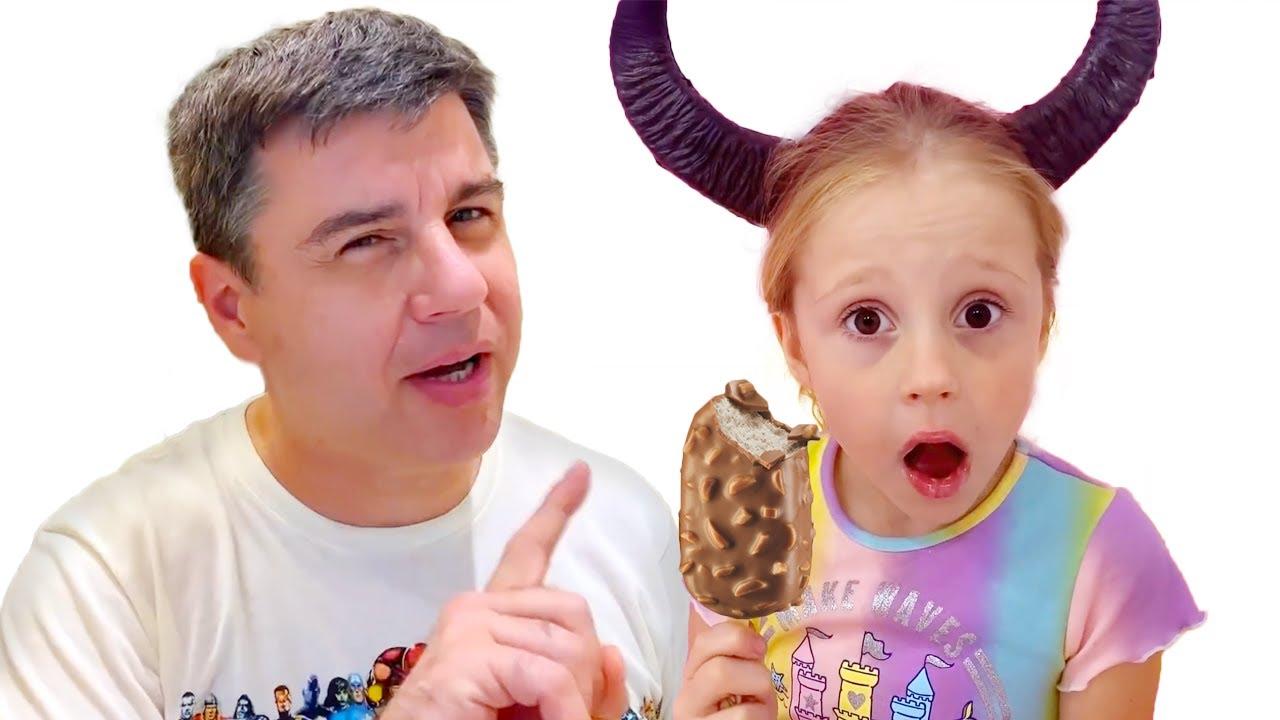 Nastya mostra o que acontece com aqueles que traem histórias morais para crianças.