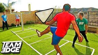 GIANT FINGER FOOTBALL CHALLENGE!!