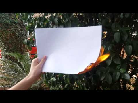 How to not burn a paper