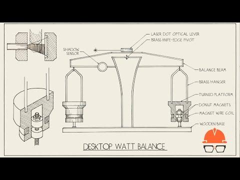 Technical Illustration of Desktop Watt Balance