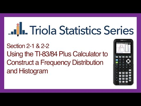 TI 83/84 Section 2-1 & 2-2: Using the TI-83/84 to Construct a Frequency Dist. and Histogram