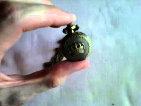 Vintage Steampunk Retro Bronze Pocket Watch Quartz Clock Necklace Pendant