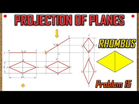 PROJECTION OF PLANES_Lecture 15_Rhombus