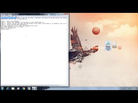 HOW TO MAKE A BOOTABLE WINDOWS 7 / 8 / 10 USB or CD/DVD DRIVE.