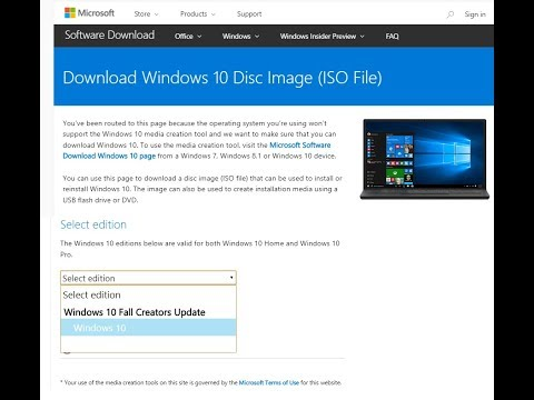 How to Download Windows 10 Fall Creators Update ISO File-Hindi