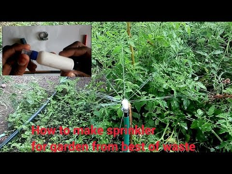 how to make garden sprinkler with empty plastic battle | best of waste | in 5 minutes | diy crafts