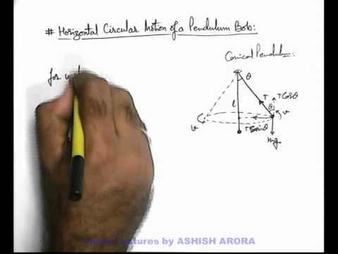 14. Class 11th Physics | Circular Motion | Horizontal Circular Motion of a Conical Pendulum (GA)