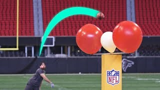 Super Bowl Stadium Trick Shots | Dude Perfect