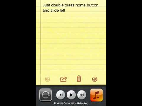 How to lock iPhone or iPod touch screen